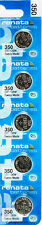 5pc 350 Renata Watch Batteries SR1136SW 350 FREE SHIP 0% MERCURY