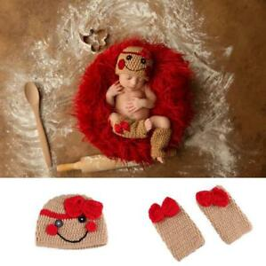 Newborn Baby Girls Crochet Knit Clothes Photo Photography Prop Costume Hat Outfi