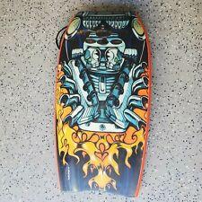 Morey Boogie Board Cruiser Size 42.5 Cool Graphics Flaming Engine Skulls Vtg