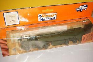 RF8/13] Roco 436 Trailer Truck Magirus Ftw Airfield Tank Build Army 1:87 Boxed