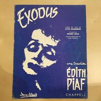 Partition Piano Edith Piaf - Exodus - Etat Acceptable - Film d'Otto Preminger