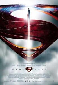 Man of Steel Movie POSTER 27 x 40 Henry Cavill, Amy Adams, E