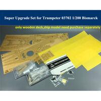 Super Upgrade Set for Trumpeter 03702 1/200 Scale Bismarck Model CYE009