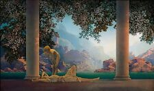 "1922 MAXFIELD PARRISH, antique home decor, Daybreak, 24""x14"" art print"