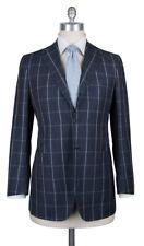 New $6600 Kiton Gray Wool Blend Window Pane Suit - 38/48 - (UA896D0731)