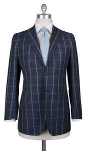 New Kiton Gray Wool Blend Window Pane Suit - 38/48 - (UA896D0731)