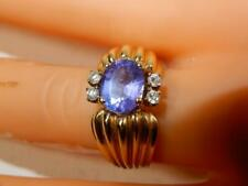 Vintage Amethyst  and diamond ring size 6.75  weight 9.8 grams high  quality
