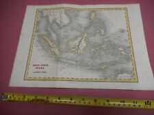 100% ORIGINAL EAST INDIA ISLES SINGAPORE MAP BY ORR DOWER C1834 VGC HAND COLOUR
