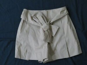 New Women's J Crew Carmel Brown Pleated Lined Dress Shorts Built in Belt Size 6