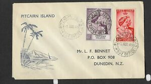 Pitcairn Islands Scott #11-#12 First Day Cover 8-1-1949 Silver Wedding Issue