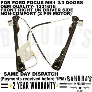 FRONT RIGHT WINDOW REGULATOR FOR FORD FOCUS MK1 1998>2005 2/3 DOOR DRIVER SIDE
