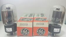 2 Date Matching GE 25C6 GA Vacuum Tubes Tested Good On Calibrated TV - 7