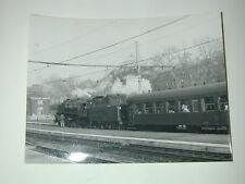 arrivée en gare TRAIN LOCOMOTIVE NAMUR 1960 140 BELGE photo photographie