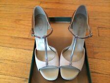 Tod's Women's Carine Melina T strap Peep Toe Sandal EU Size 39.5, US Size 9.5