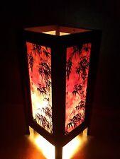 Asian Oriental Dawning Sunset Japanese Art Bedside Desk or Table Lamp