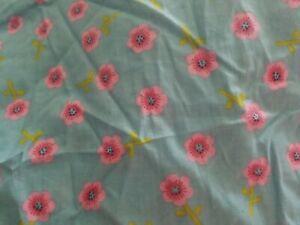 NWOT Keneth Brown SWEET STITCHES Blue Floral CRIB SHEET girl
