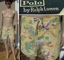 vintage 90s POLO RALPH LAUREN swim trunk hawaiian print water shorts liner men M