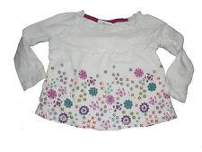 Mini tolles Langarm Shirt Gr. 68 / 74 weiß mit tollen Blumen Motiven !!