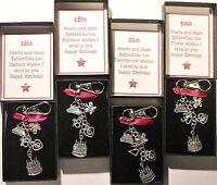 Happy Birthday Pink Keepsake Keyring 16th 18th 21st 30th 40th 50th Gift