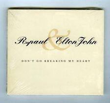 CD SINGLE PROMO (NEW) RUPAUL & ELTON JOHN DON'T GO BREAKING MY HEART