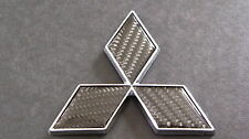 Carbon Fibre Diamond Badge 4.7cm Mitsubishi