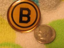 Boston Bruins Enamel Lapel Pin made by Wincraft - Older plain logo.