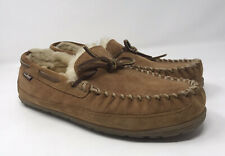 L.L. Bean Wicked Good Moccasins Sheepskins Slipper Men's Shoes Sz 9 Brown 264593