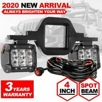 Tow Hitch Mount Bracket+ LED Work Light Pods Driving Backup Reverse  Car Truck