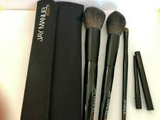 Jay Manuel Beauty 4 Piece Professional Makeup Brush Set With Pouch Black
