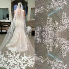 Classic White/Ivory Lace Edge Cathedral Length Wedding Bridal Veil With Comb BA