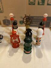vintage Avon Bottles,gas Pump,lighthouse,lantern,b arber Pole,ship Wheel