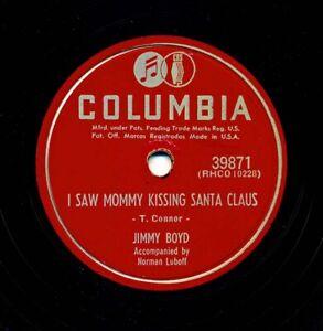 JIMMY BOYD on Nice V+ 1952 Columbia 39871 - I Saw Mommy Kissing Santa Claus