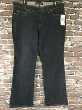 New Izod Women's Jeans Sz 12 Favorite Flare Dark Wash Stretch Blue Denim NWT