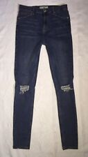 TOPSHOP MOTO 'JAMIE' HIGH RISE SKINNY JEANS 32 RIPPED DISTRESSED TALL STRETCH