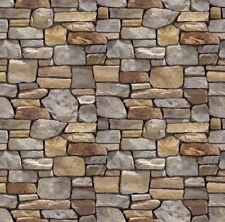 ! 5 Sheets Embossed Bumpy stone wall paper 21x29cm Scale 1/12 Code 2292e