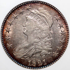 1821 Bust Half Dollar Anacs XF45 Old Holder Beautiful Toning