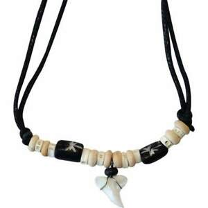Shark Tooth Necklace Pendant Chain Mens Womens Boys Girls Childrens Jewellery