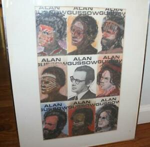 Alan GUSSOW Pastel & Post Card Collage 1983 Important Abstract Expressionist