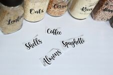 Kitchen Canister Decals/Kitchen Canister Labels/Pantry Labels/Canister