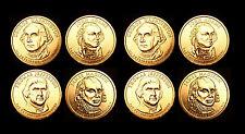 2007 P+D Presidential Mint Roll Set ~ Washington Adams Jefferson Madison ~ No S