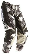 """Fly Racing KINETIC Ladies Womens adult motocross pants sz 3/4 or 30"""" blk/wht NEW"""