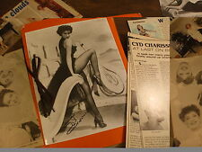 Cyd Charisse antique scrapbook magazine clippings autographed photos Collection