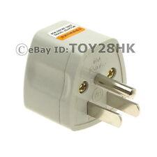 USA/Canada Grounded Travel Adapter Convert EU GB AU China to US Plug