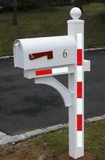 Mailbox Reflective Tape Safety Decals Driveway Marker Mail box Post - Red/White