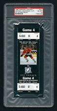 PSA 8 CHRIS CHELIOS Unused NHL Ticket for the Blackhawks at the Lightning