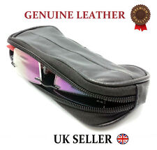 REAL LEATHER GLASSES SOFT POUCH SPECTACLES SUNGLASSES BELT LOOP COIN TRAVEL CASE