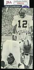Ken Stabler JSA Coa Autograph Hand Signed 4x7 Photo
