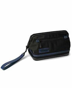VERSACE Parfums black pouch dopp kit case travel toiletry cosmetic makeup bag