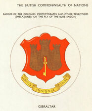 Gibraltar Flags. Badges of the Colonies, Protectorates & other Territories 1965