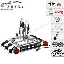 Towbar Mounted 3 Bike Rack Cycle Carrier Tilting Theft Protection 7 pin plug